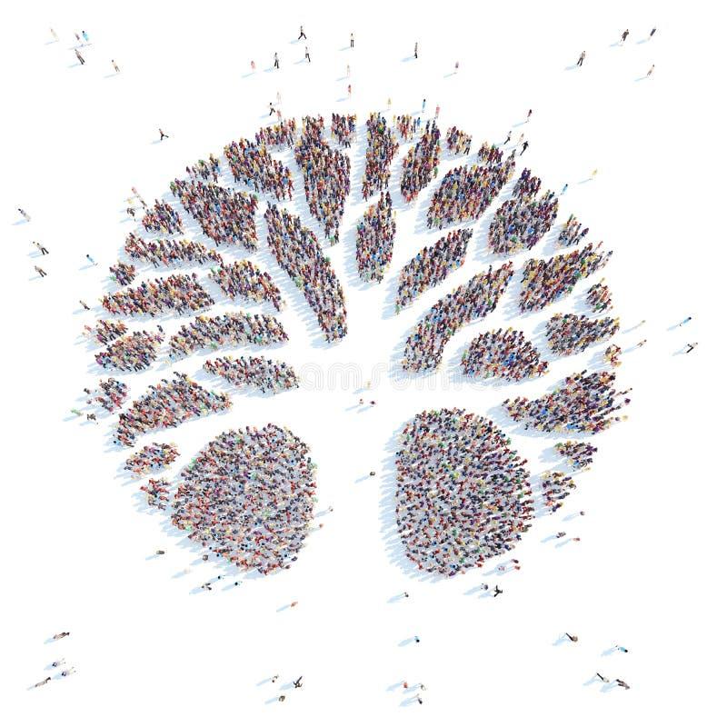 标志树 向量例证