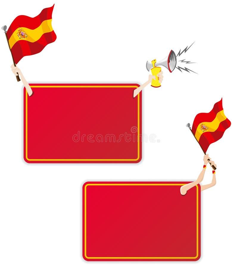 标志框架消息西班牙体育运动 皇族释放例证