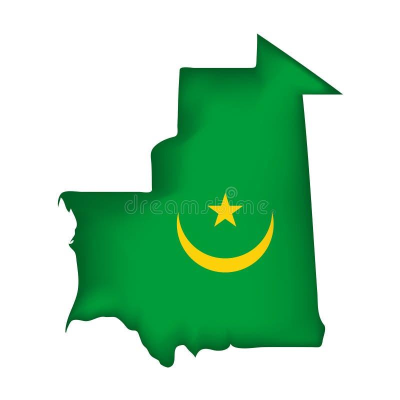 标志毛里塔尼亚向量 向量例证