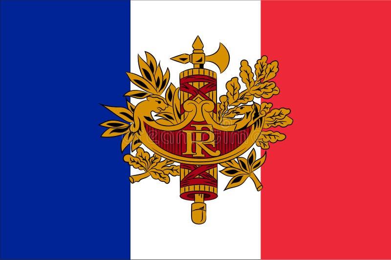 标志法国 库存例证