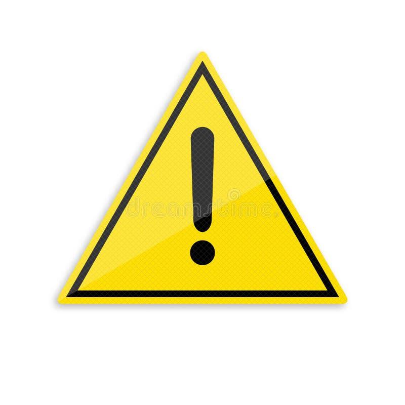 标志注意 关于关心的警报信号 库存例证