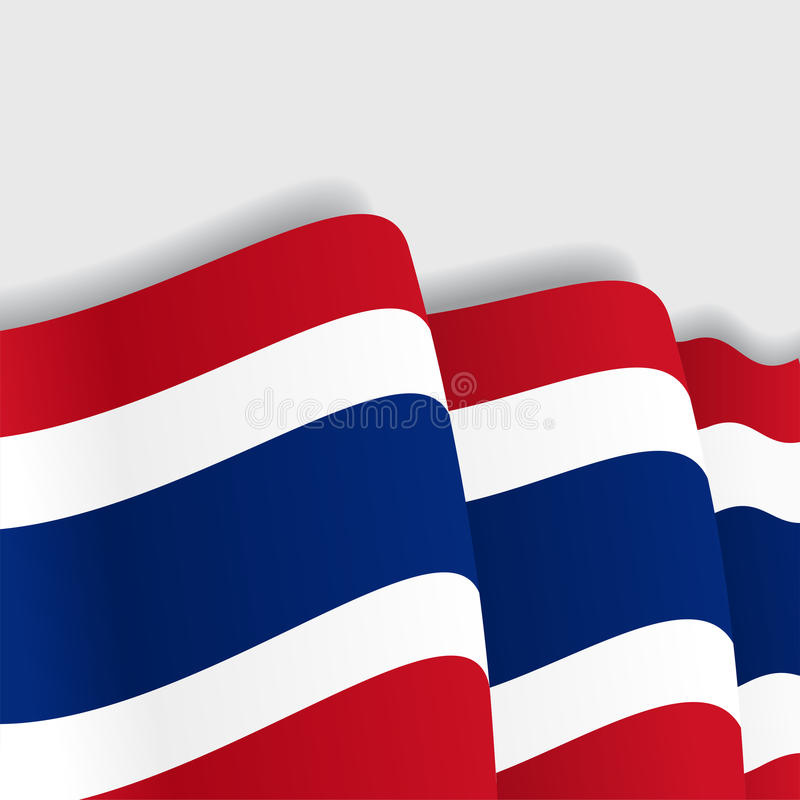 标志泰国挥动 也corel凹道例证向量 向量例证