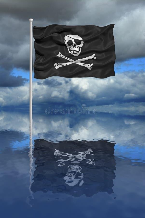 标志海盗反映 向量例证