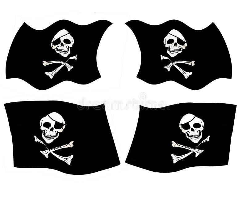 标志海盗 库存例证