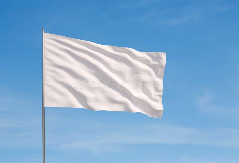标志白色 库存图片