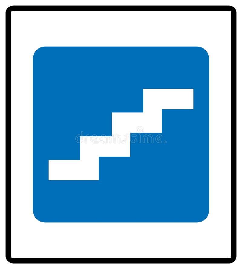 标志的台阶 r 在蓝色长方形的白色简单的图表象在白色 库存图片