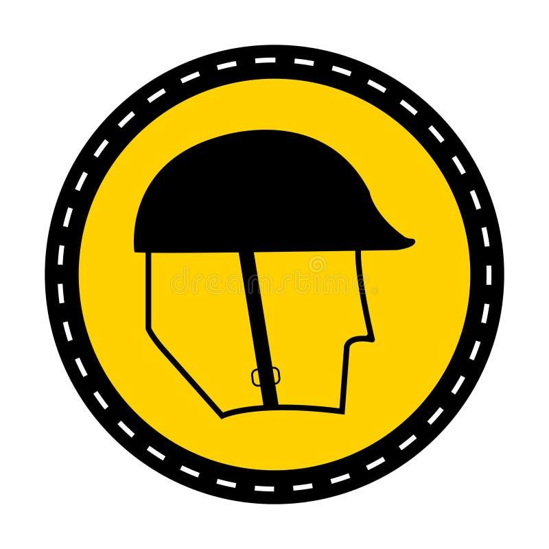 标志穿戴在白色背景,传染媒介例证的领袖保护标志 向量例证