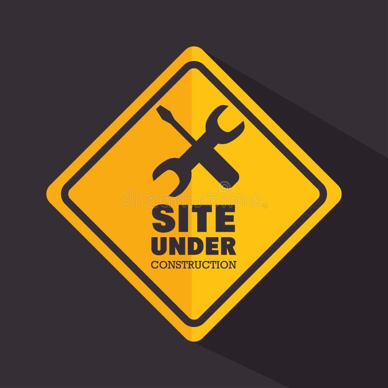 标志站点建设中工具 库存例证