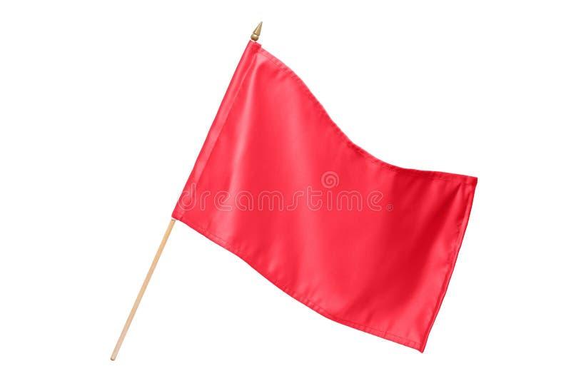标志红色丝绸 库存照片