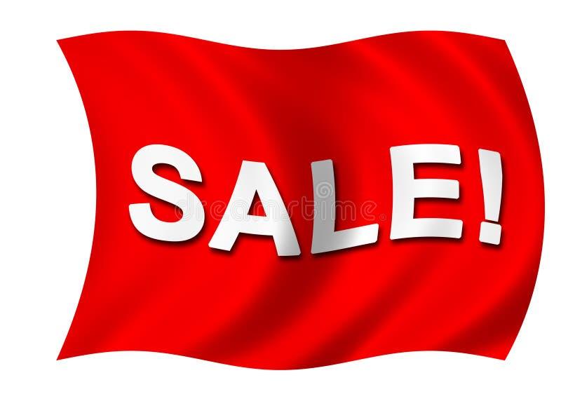标志红色销售额 向量例证