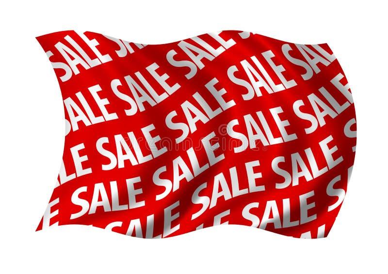 标志红色销售额 皇族释放例证