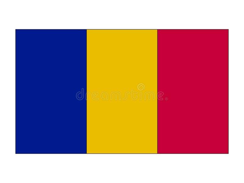 标志罗马尼亚 向量例证