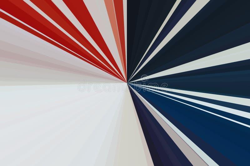 标志美国 抽象背景光芒 条纹射线样式 时髦的例证现代趋向颜色 库存图片