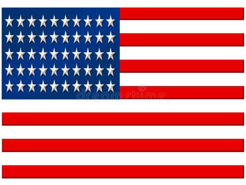 标志美国 皇族释放例证