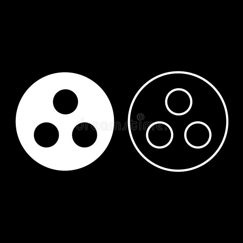 标志聋哑或工作小组象集合白色彩色插图平的样式简单的图象 皇族释放例证