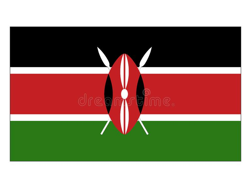 标志肯尼亚 皇族释放例证