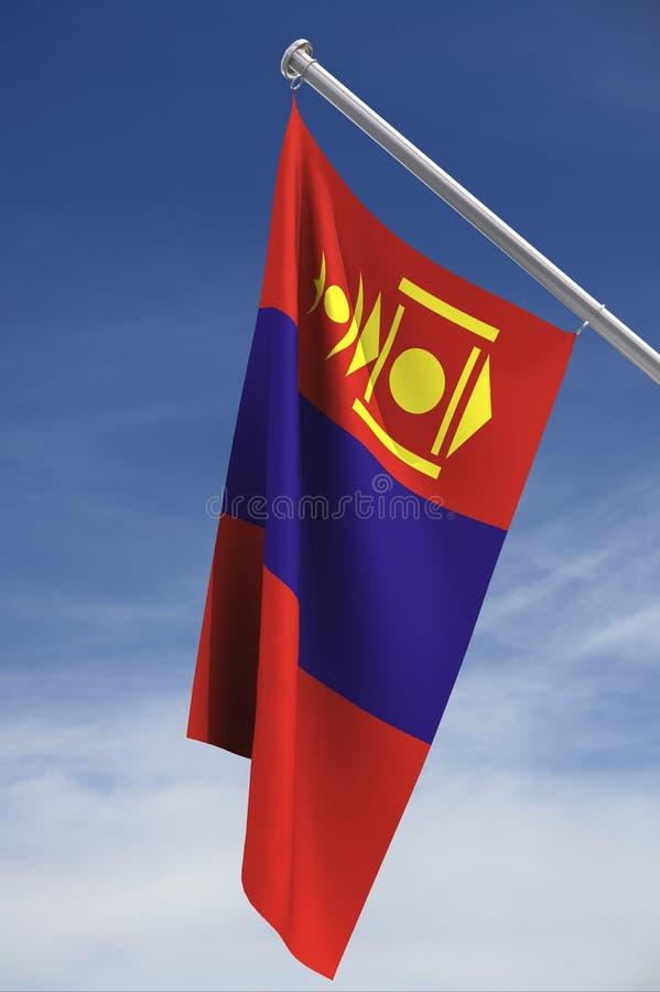 标志蒙古天空 库存例证