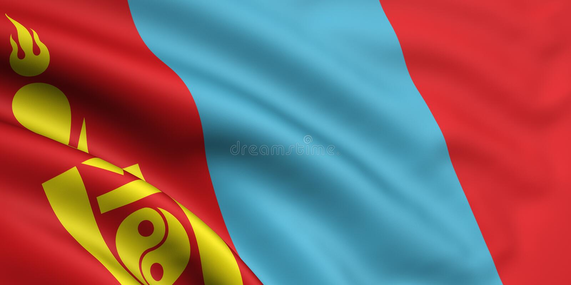 标志蒙古 皇族释放例证