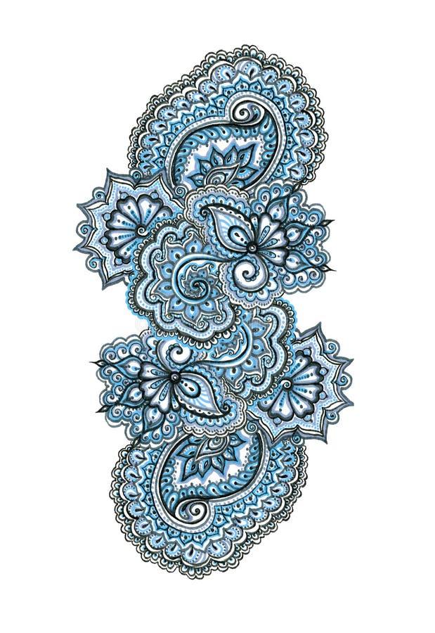 标志被绘的装饰装饰品 印地安东部花边 皇族释放例证