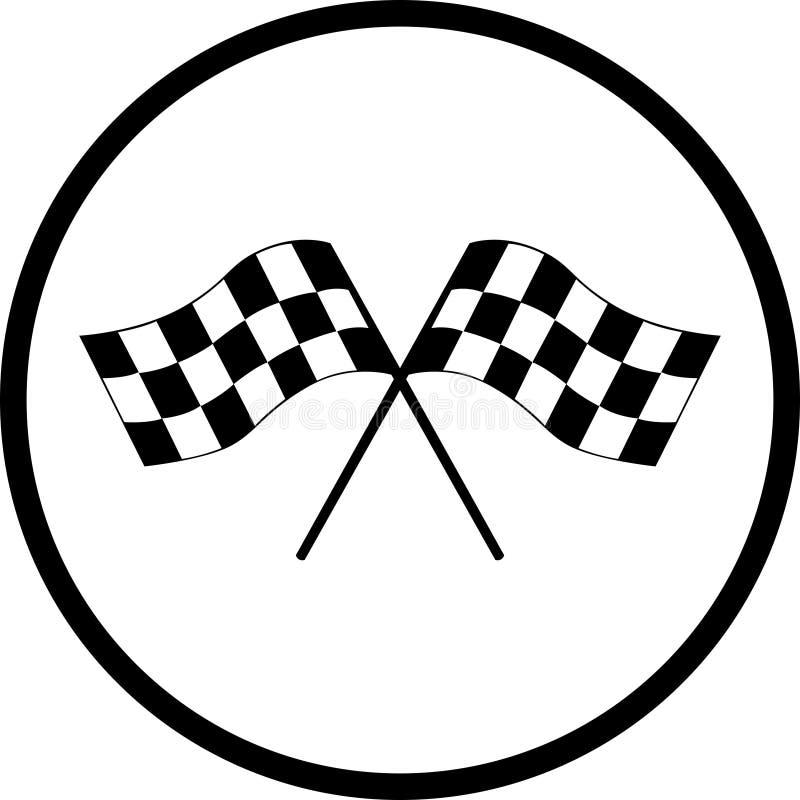标志赛跑 库存例证