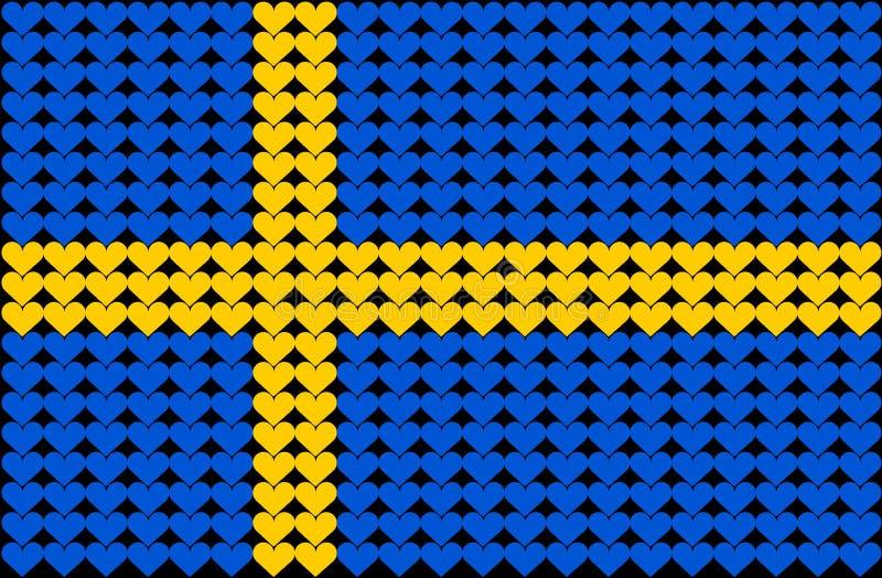 标志重点瑞典 皇族释放例证