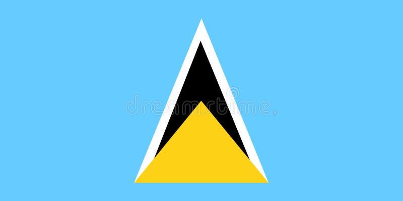 标志露西娅国民圣徒 与圣卢西亚的旗子的背景 库存例证