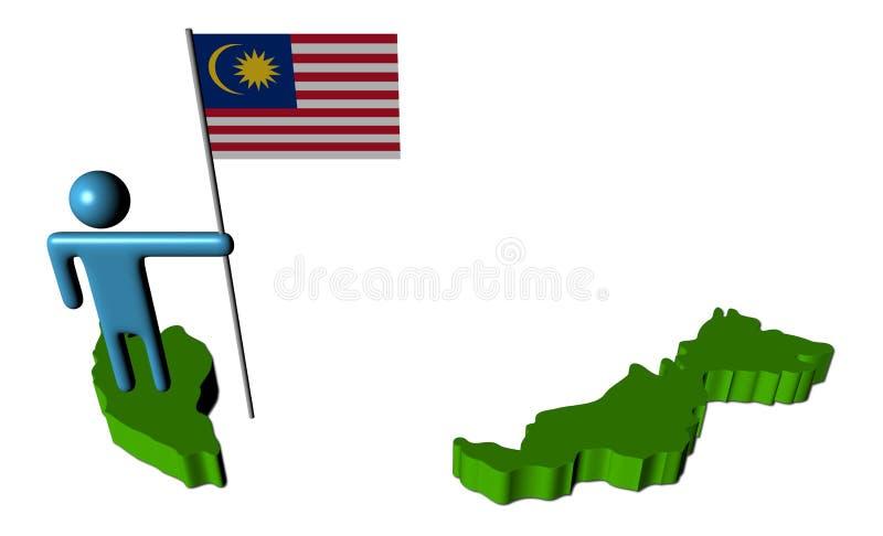 标志马来西亚映射人员 皇族释放例证