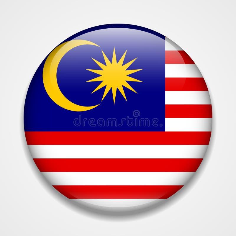 标志马来西亚 圆的光滑的徽章 皇族释放例证