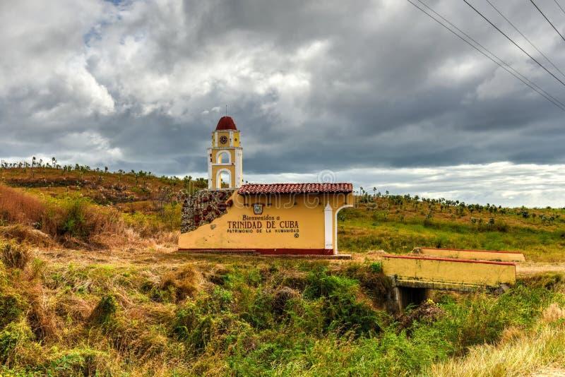 标志-特立尼达,古巴 库存照片