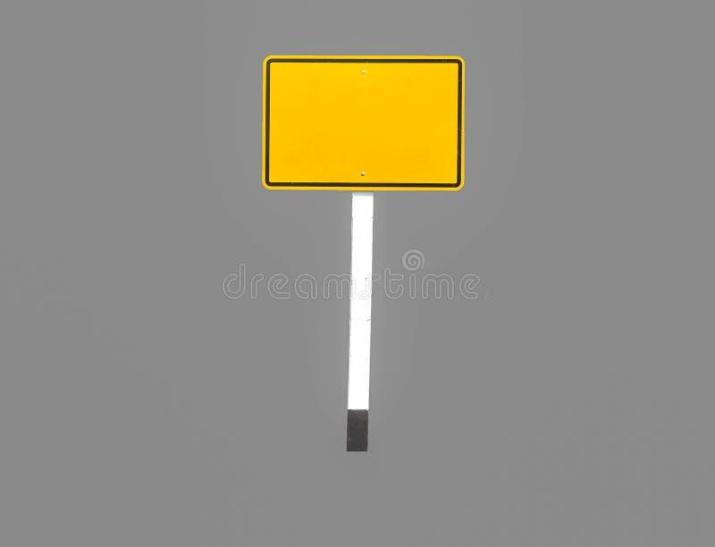 标志黄色长方形 库存图片