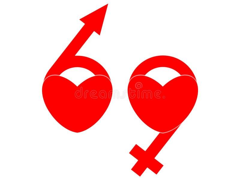 69标志 库存例证