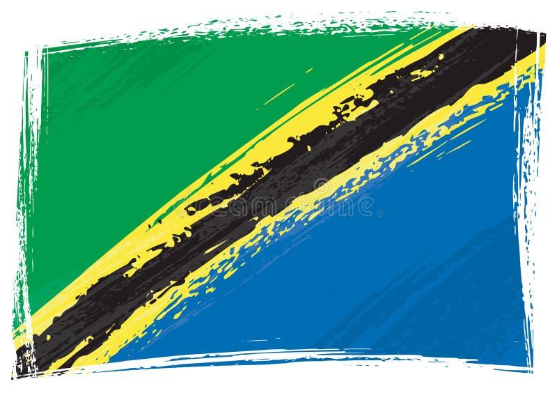 标志grunge坦桑尼亚