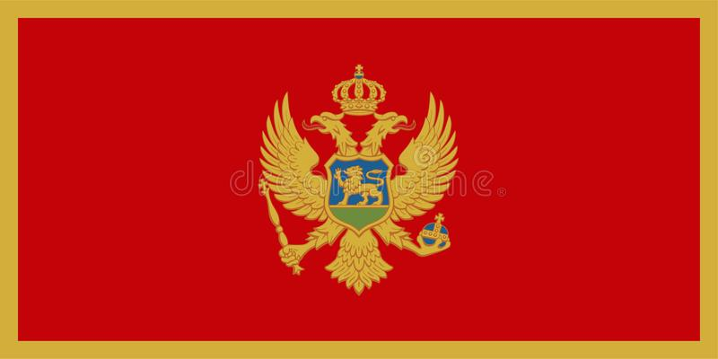 标志montenegro 向量例证