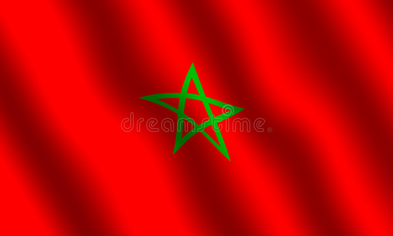标志moroccon 库存例证