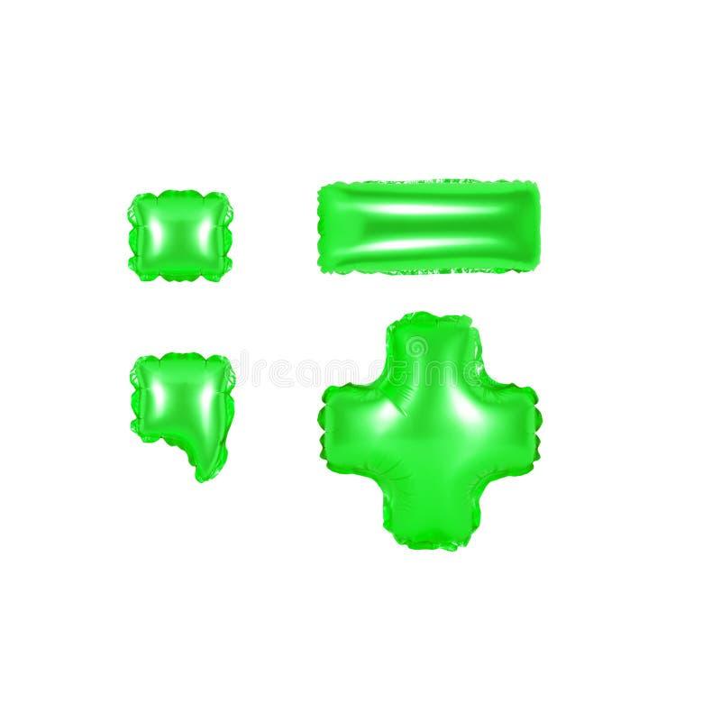 标点符号,第2部分,绿色 免版税库存照片