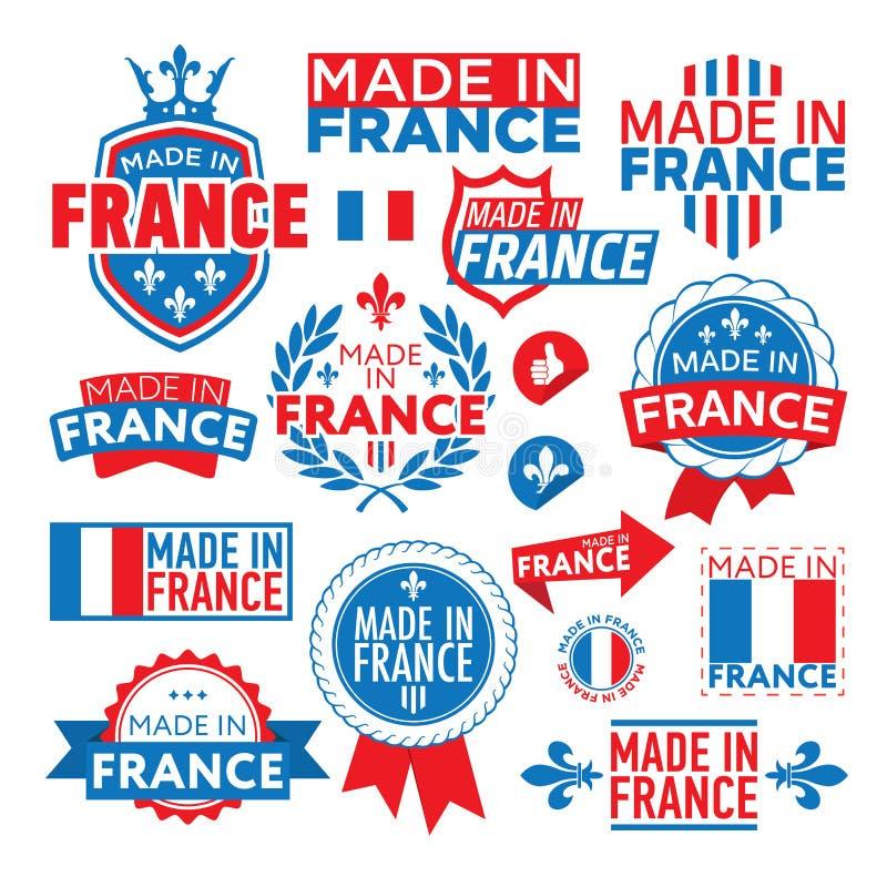 标签在法国做了†‹â€ ‹ 向量例证