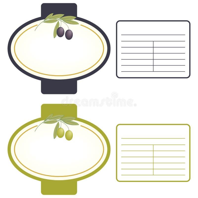 标签橄榄 向量例证
