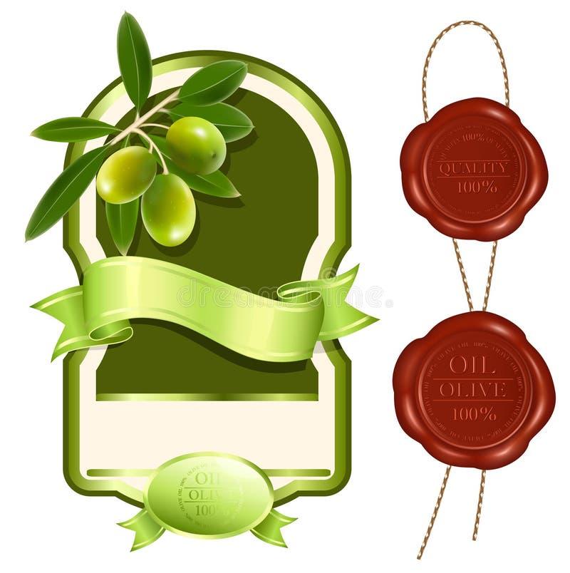 标签油橄榄产品 向量例证