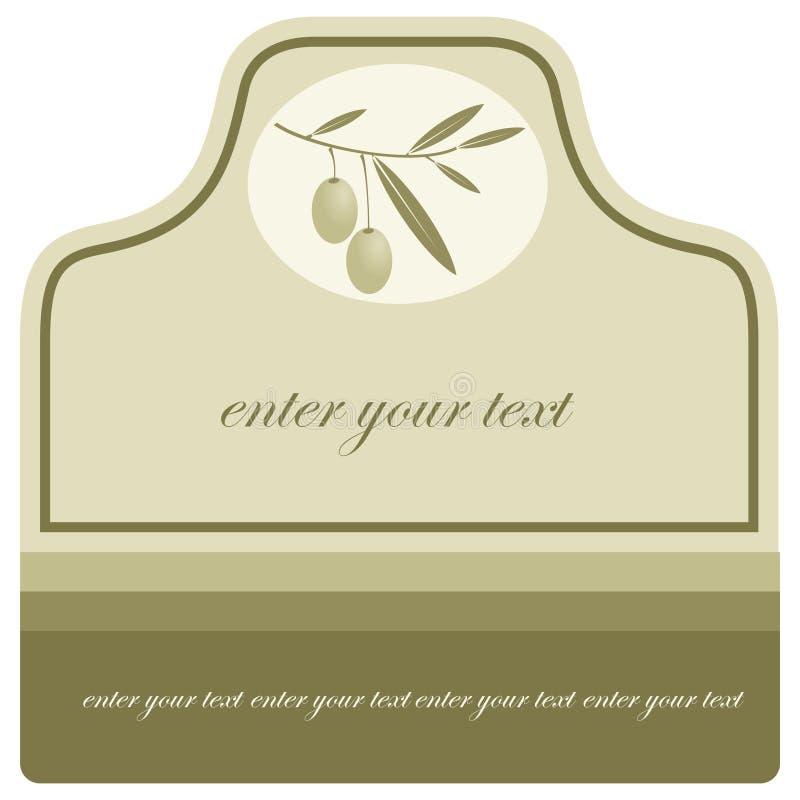 标签油橄榄 库存例证