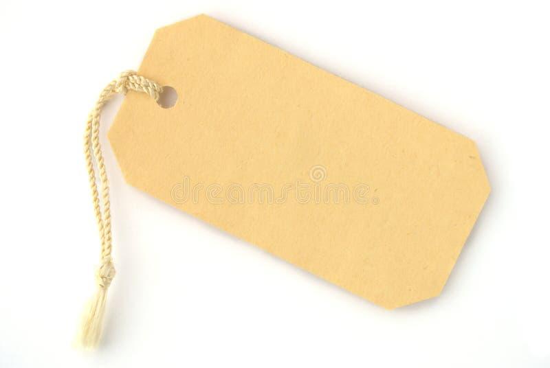 标签黄色 免版税库存照片
