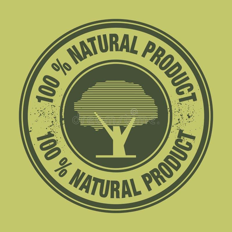 标签100%自然产品 向量例证