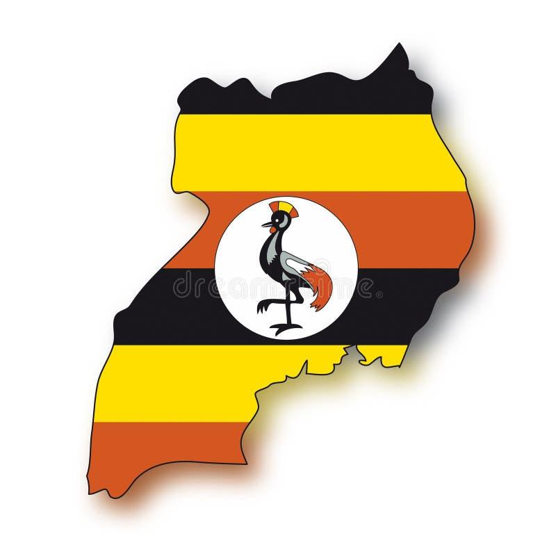 标记乌干达向量 向量例证