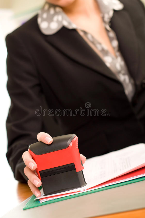 标记妇女的文件现有量s 库存照片