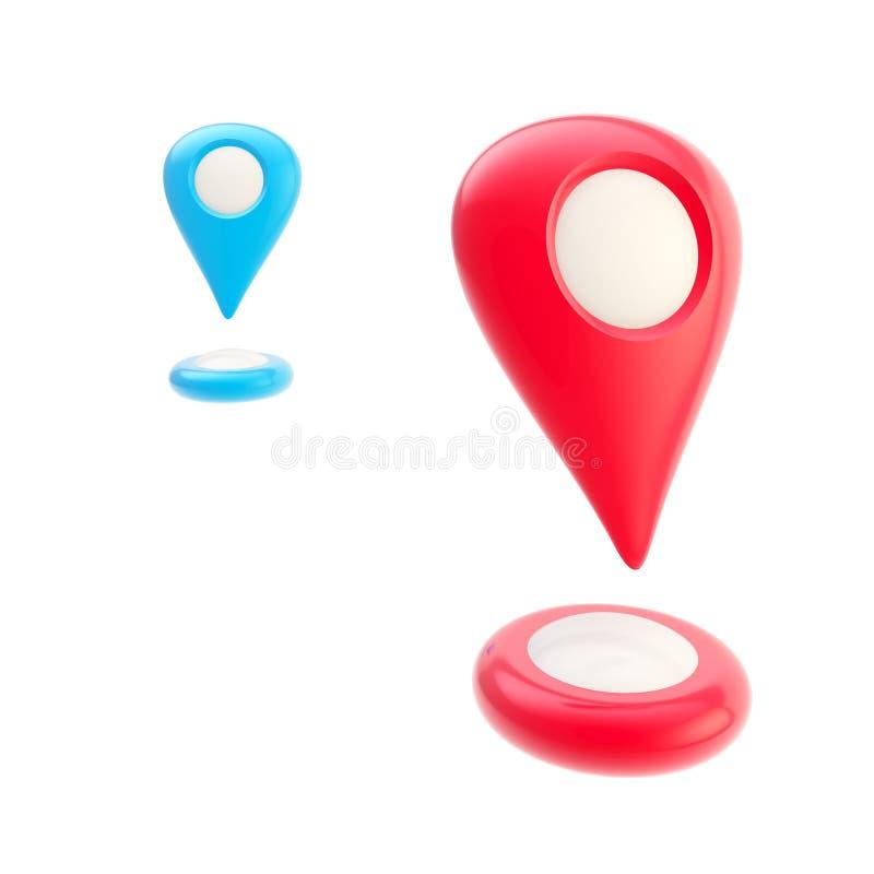 标记概念的路线和geo 库存例证