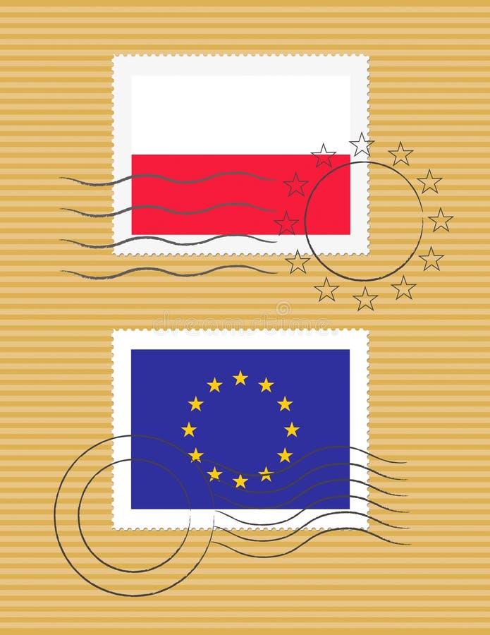 标记波兰印花税 皇族释放例证