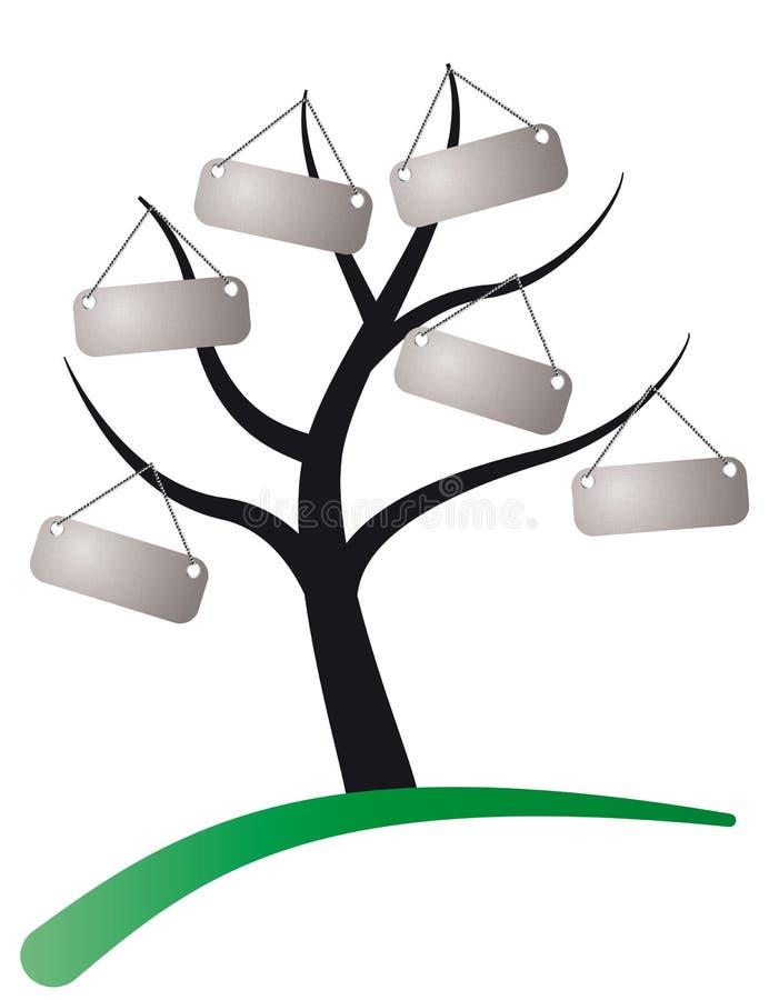 标记结构树 库存例证