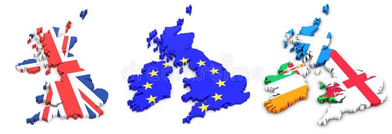 标记英国爱尔兰的状态 库存例证