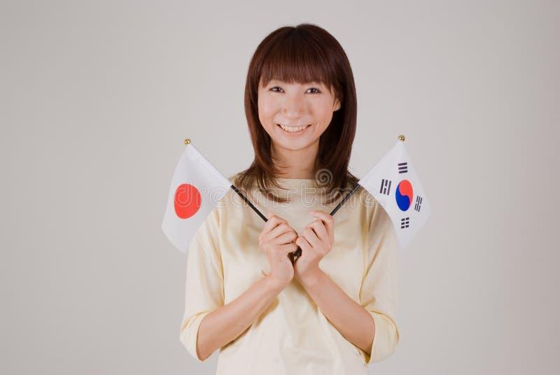 标记藏品日本韩文妇女年轻人 图库摄影