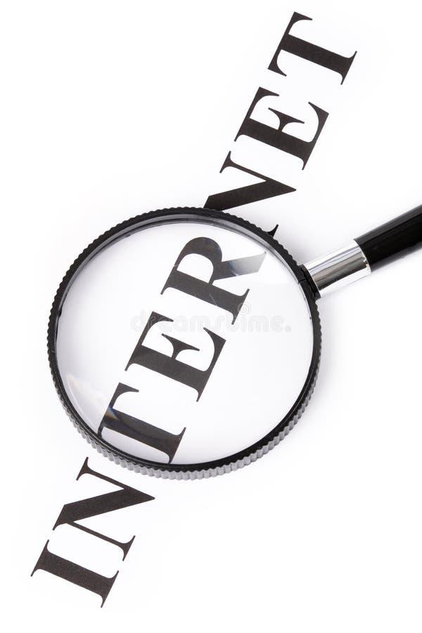 标题互联网放大器 免版税库存图片