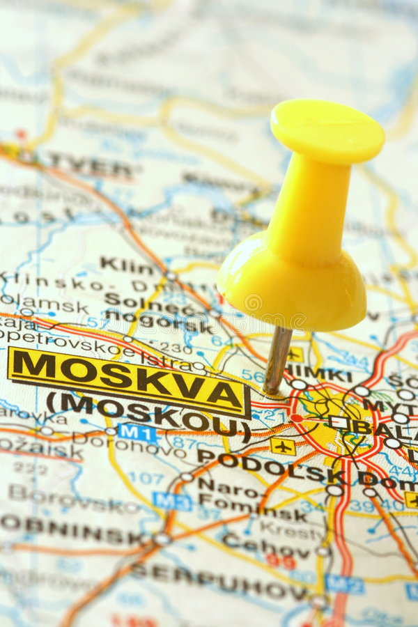 标题莫斯科 库存图片